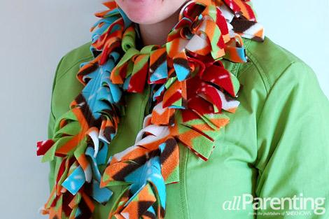 fleece scarf step 9