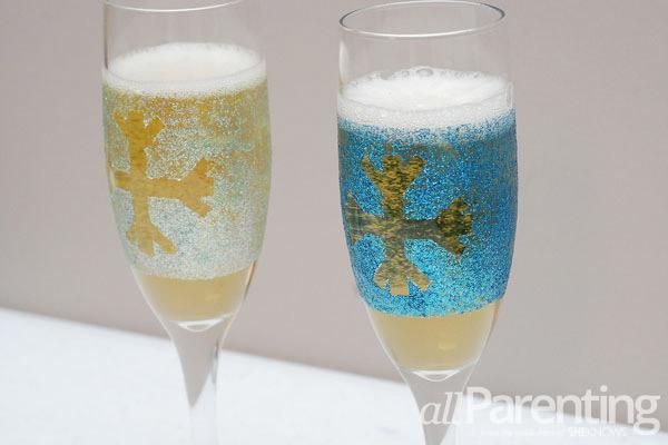 glitter champagne glasses snowball final