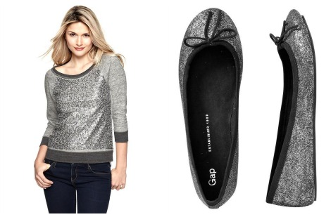 Gap sweater and shoes