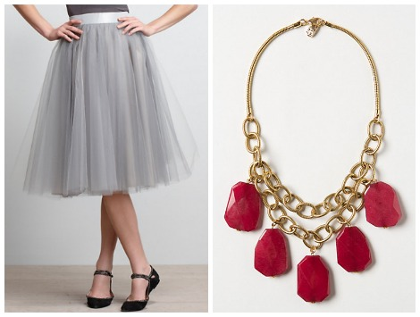 tulle skirt and necklace
