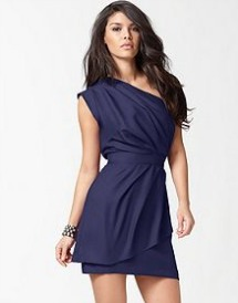 BCBGeneration's one shoulder layered pleated dress