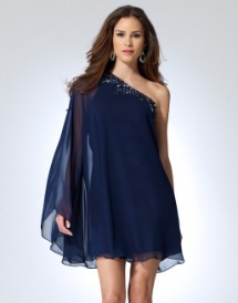 Cache beaded capelette dress