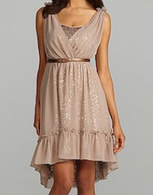 Jessica Simpson belted sequin-lined dress