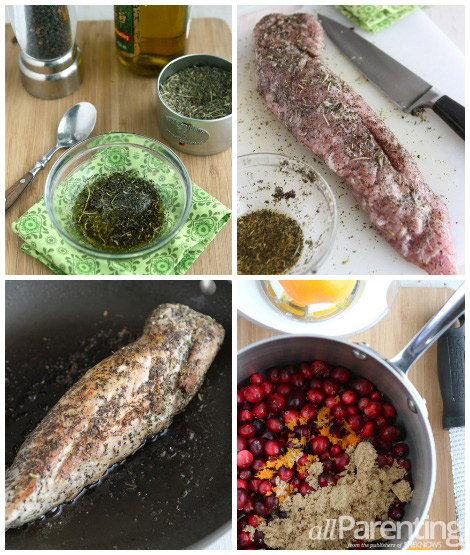 Pork Cranberry Relish collage