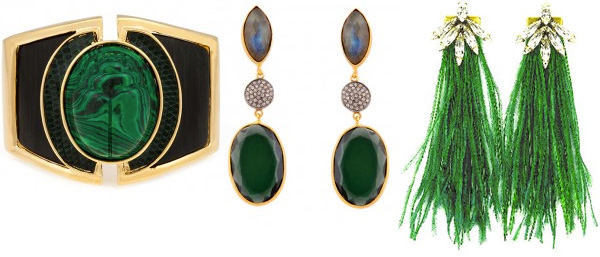 Emerald green jewelry