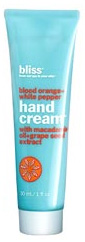 Bliss blood orange and white pepper hand cream
