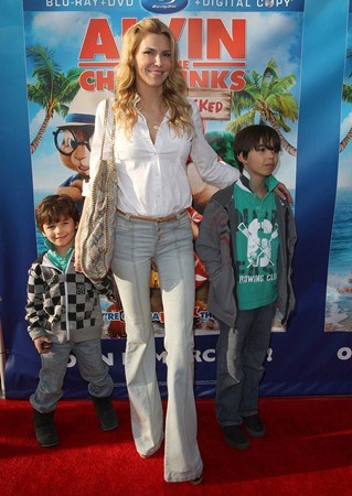 Brandi Glanville and her two sons