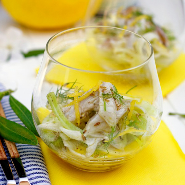 branzino and fennel carpaccio