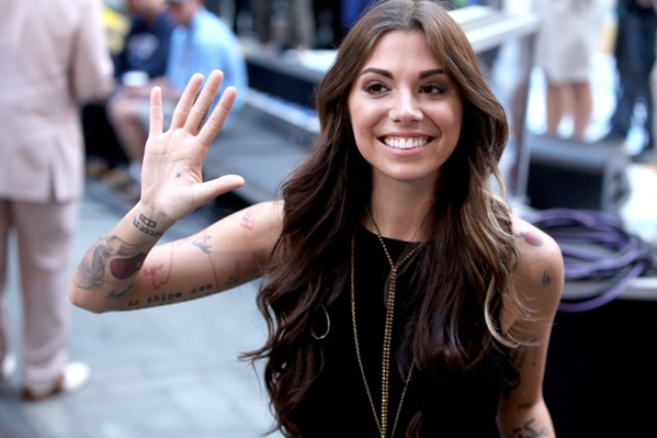Christina Perri waves