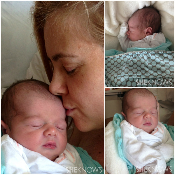 Christie Lynn Smith and her newborn baby