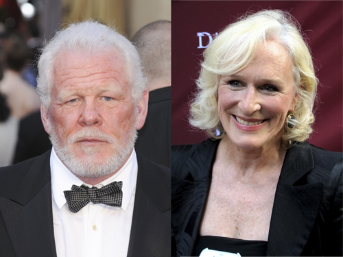 Nick Nolte and Glenn Close