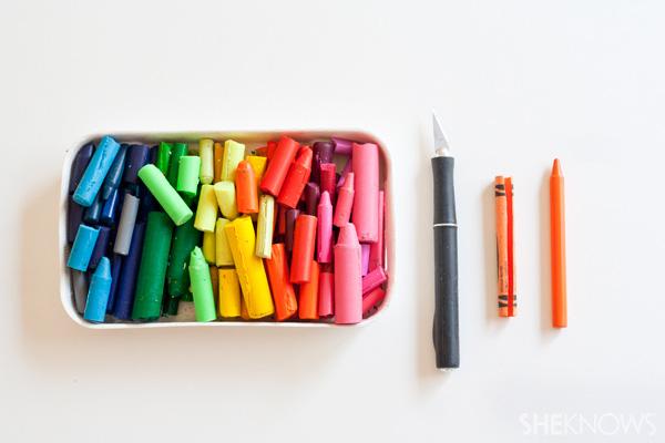 DIY crayons -- supplies
