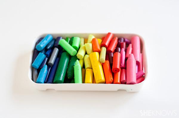 DIY crayons -- step 1