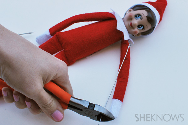 Cut the wire to fit - making your Elf on the Shelf bendable