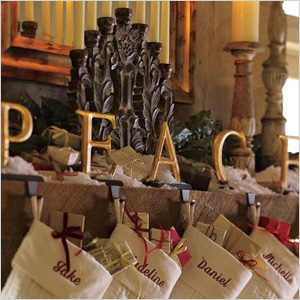 Peace stocking holders