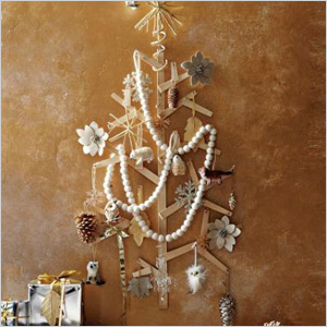 Wooden wall tree