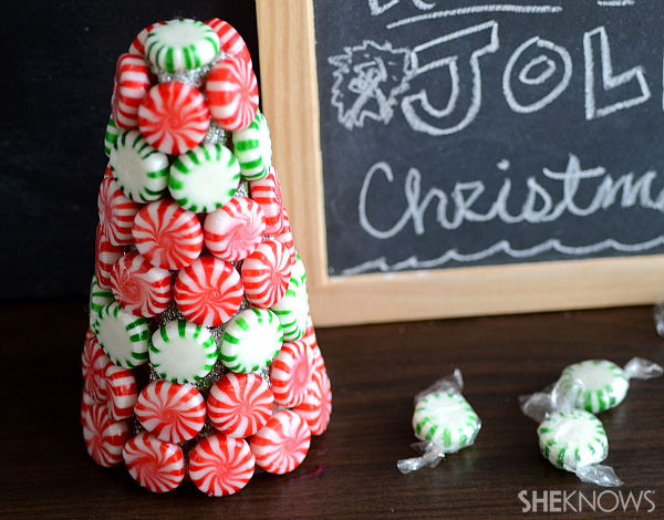 DIY candy mint Christmas tree -- final