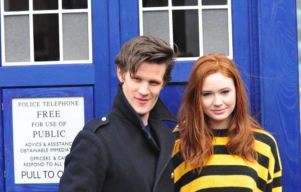 Matt Smith and Karen Gillan of Doctor Who