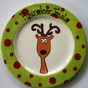 Reindeer Treats plate