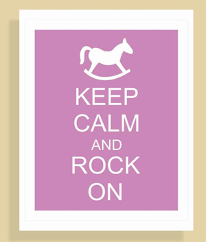 Keep Calm nursery sign