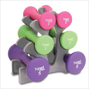 ToneFitness 20lbs Hourglass Dumbbell Set