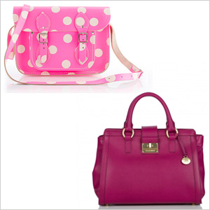 My pick: The Cambridge Satchel Company for Crewcuts Polka-Dot Satchel ($185) ; Brahmin Annabelle Saffiano Satchel($345)