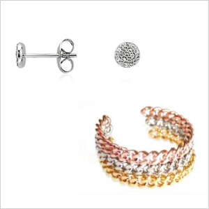 My picks: Blue Nile Mini Round Diamond Earrings ($300);Joanna Laura Constantine bracelet ($195)