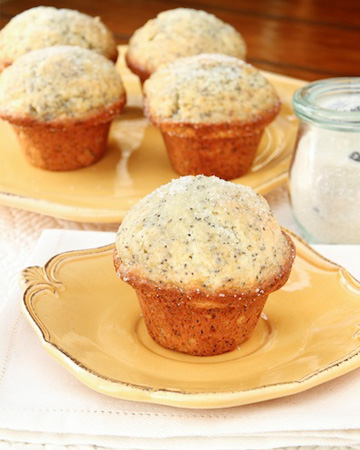 light and lemony enjoy a glazed lemon poppy seed muffin for breakfast ...