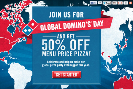 Pick up a pizza for 50 percent off!
