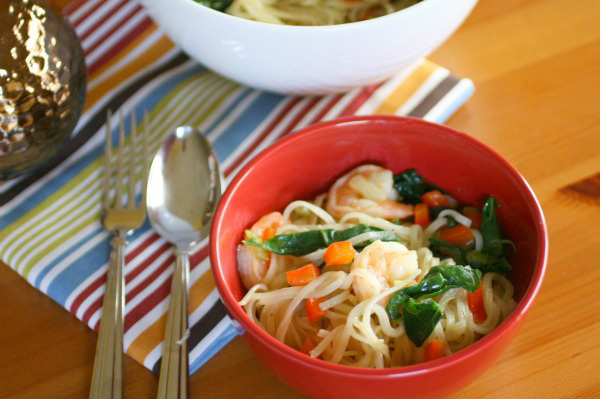 Gluten-free Friday: Asian-style noodles and shrimp