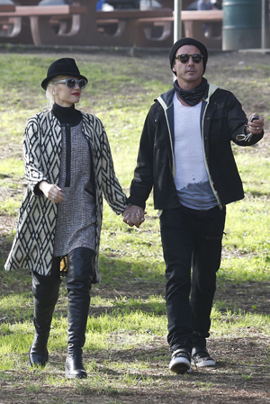 Gwen Stefani and Gavin Rossdale in the park