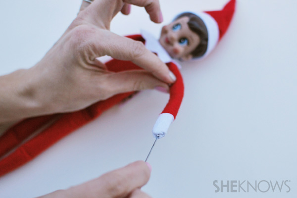 Insert wire - making your Elf on the Shelf bendable