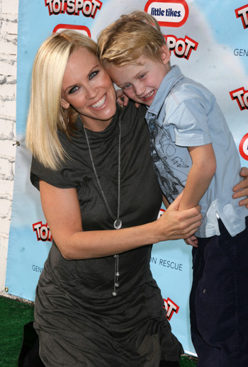 Jenny McCarthy and son Evan in 2008