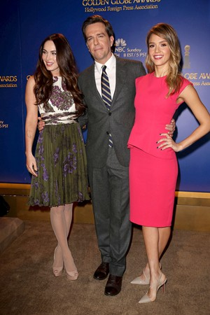 Megan Fox, Ed Helms, Jessica Alba at Golden Globes