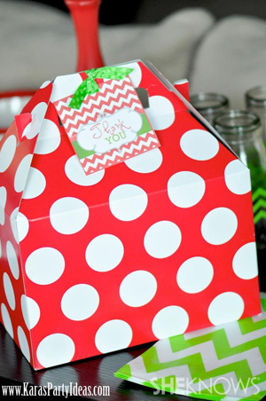 Polka Dot Gable Boxes