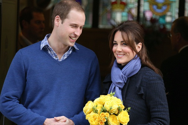 Kate and Wills leaving hospital