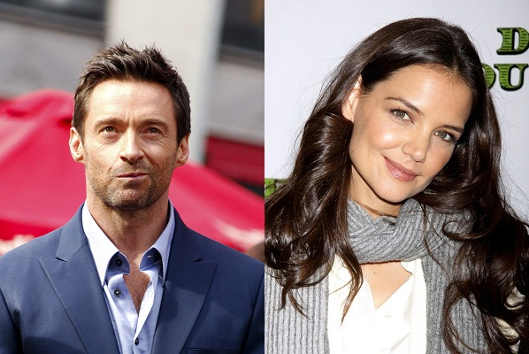 Katie Holmes and Hugh Jackman this week on Late Night