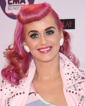 Katy Perry wearing pink