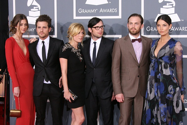 Kings of Leon posse at 2011 Grammys
