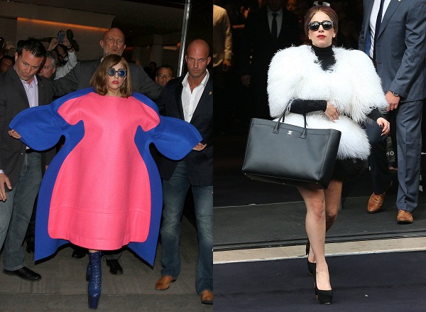 Just two of Lady Gaga's recent fashion choices