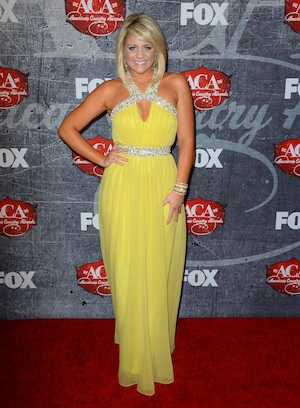 Lauren Alaina buttercup dress at the American Country Awards.