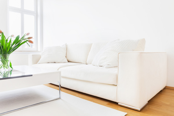 Living room decorated in minimalism style