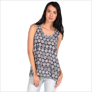 Lace shift tank
