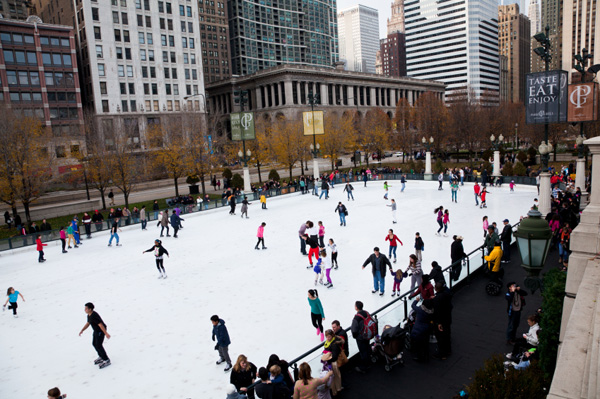 Millennium Park Ice Skating Rink  Chicago, IL
