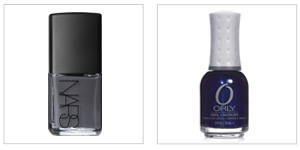Nars Nail Polish in Storm Bird ($18) and Orly In the Navy ($8.50)