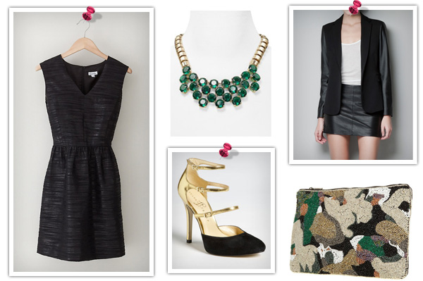 sleeveless Steven Allen dress -- date night look