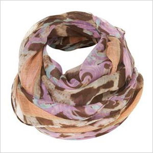 lightweight lilac-hued scarf