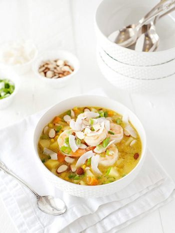 Curried shrimp and corn chowder