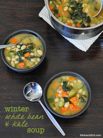 Winter white bean and kale soup