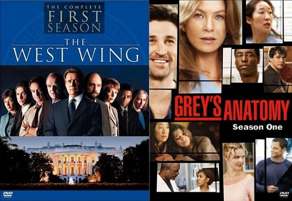 West Wing and Grey's Anatomy on DVD for post-apocalyptic help